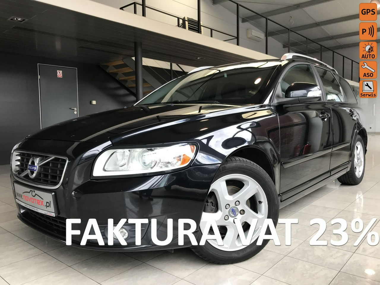 Volvo V50 1.6D*Momentum*navi*skóra*115KM*LED*175Tkm*serwis ASO Volvo*gwarancja