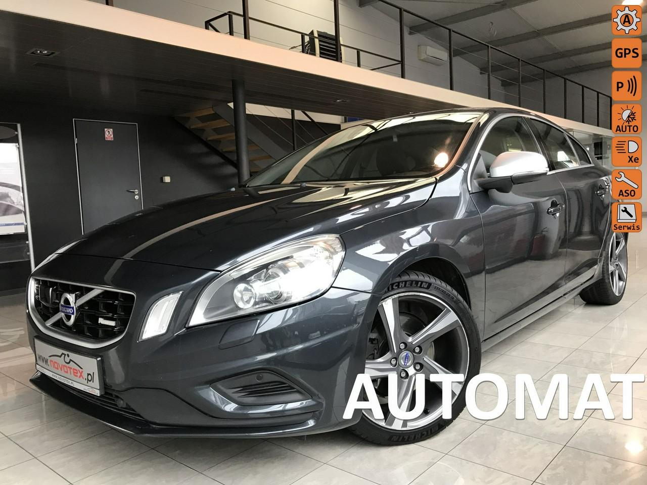 Volvo S60 D3*R-Design*automat*xenon*ACC*BLIS*skóra*ALU18*serwis w ASO*Gwarancja