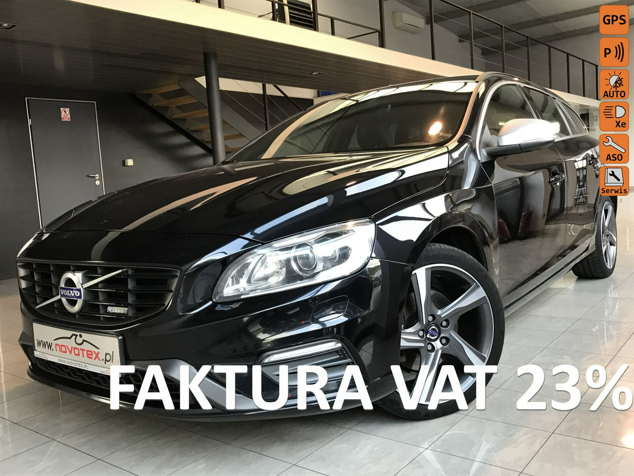 Volvo V60 D2*R-Design*144Tkm*xenon*skóra*alu 18*TFT*serwis w ASO*Gwarancja VI