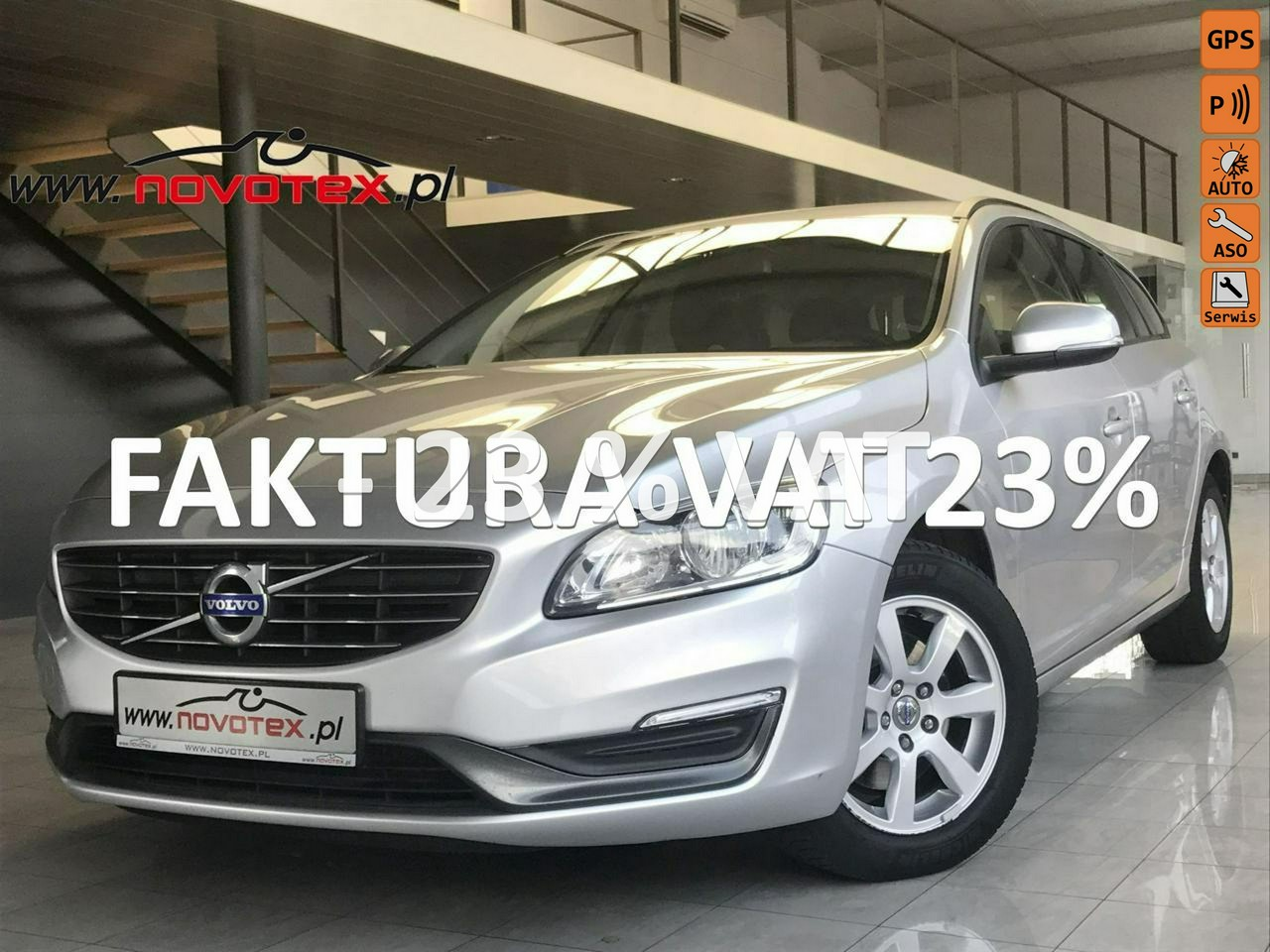 Volvo V60 D2*Momentum*lift 2014*serwis w ASO*Gwarancja VIP Service