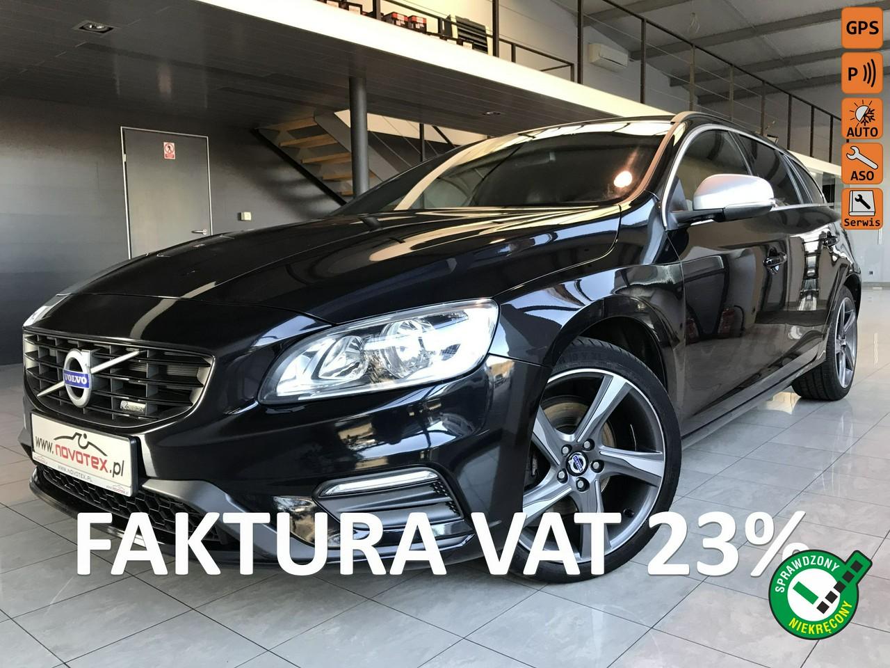 Volvo V60 D4*R-Design*181KM*skóra*nowy rozrząd*serwis ASO Volvo*Gwarancja