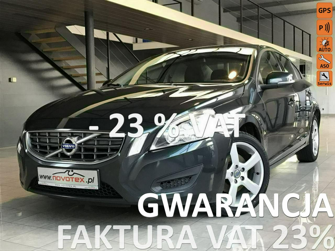 Volvo S60 D2*Momentum*serwis w ASO*Gwarancja VIP Gwarant